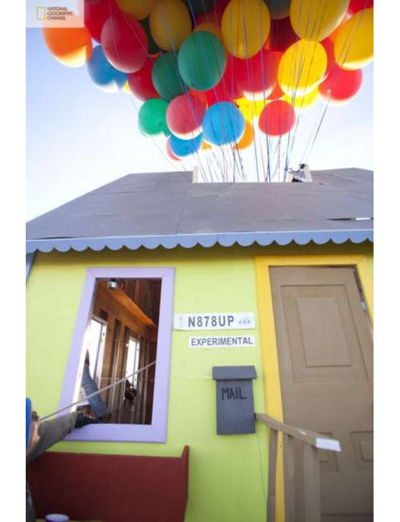 television movies  The Flying House from <i>Up</i> <br> Built In Real Life