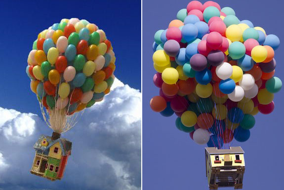 The Flying House from <i>Up</i> <br> Built In Real Life