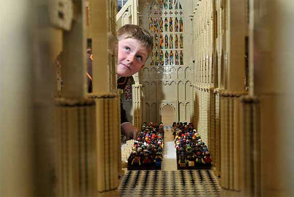 Westminster Abbey Made of LEGO