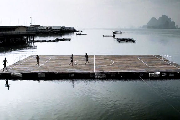 The Floating Football Island