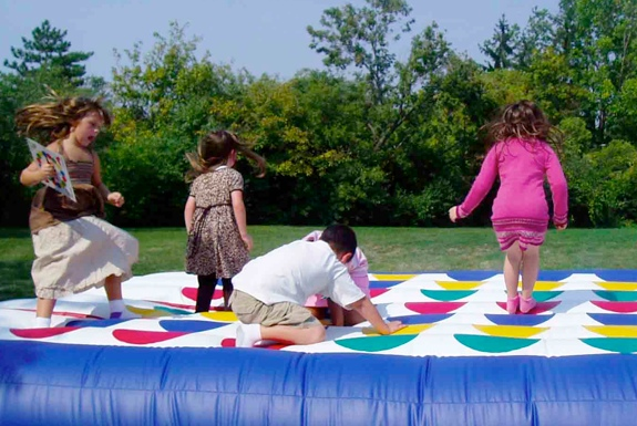 The Giant, Outdoor, Inflatable Twister Board
