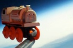 Father, Son Launch Toy Train Into Outter Space
