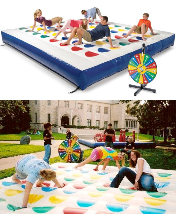 Toys The Giant Outdoor Inflatable Twister Board